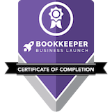 Bookkeeper Business Launch Certificate
